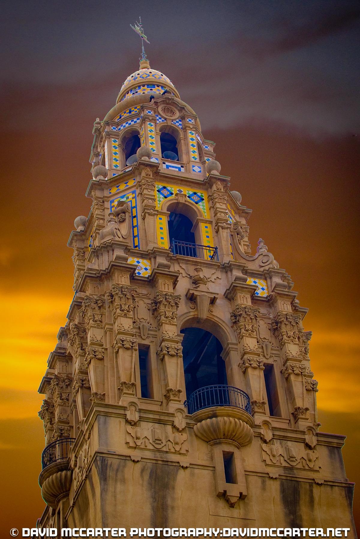 California Tower Sunset